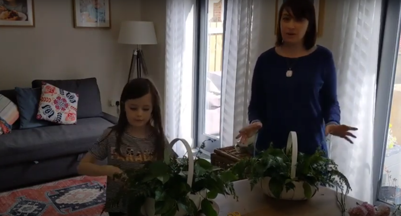 Make a Flower Basket! Part One 1